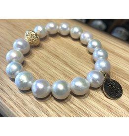 Bourbon and Bowties Baroque Pearl Bracelet