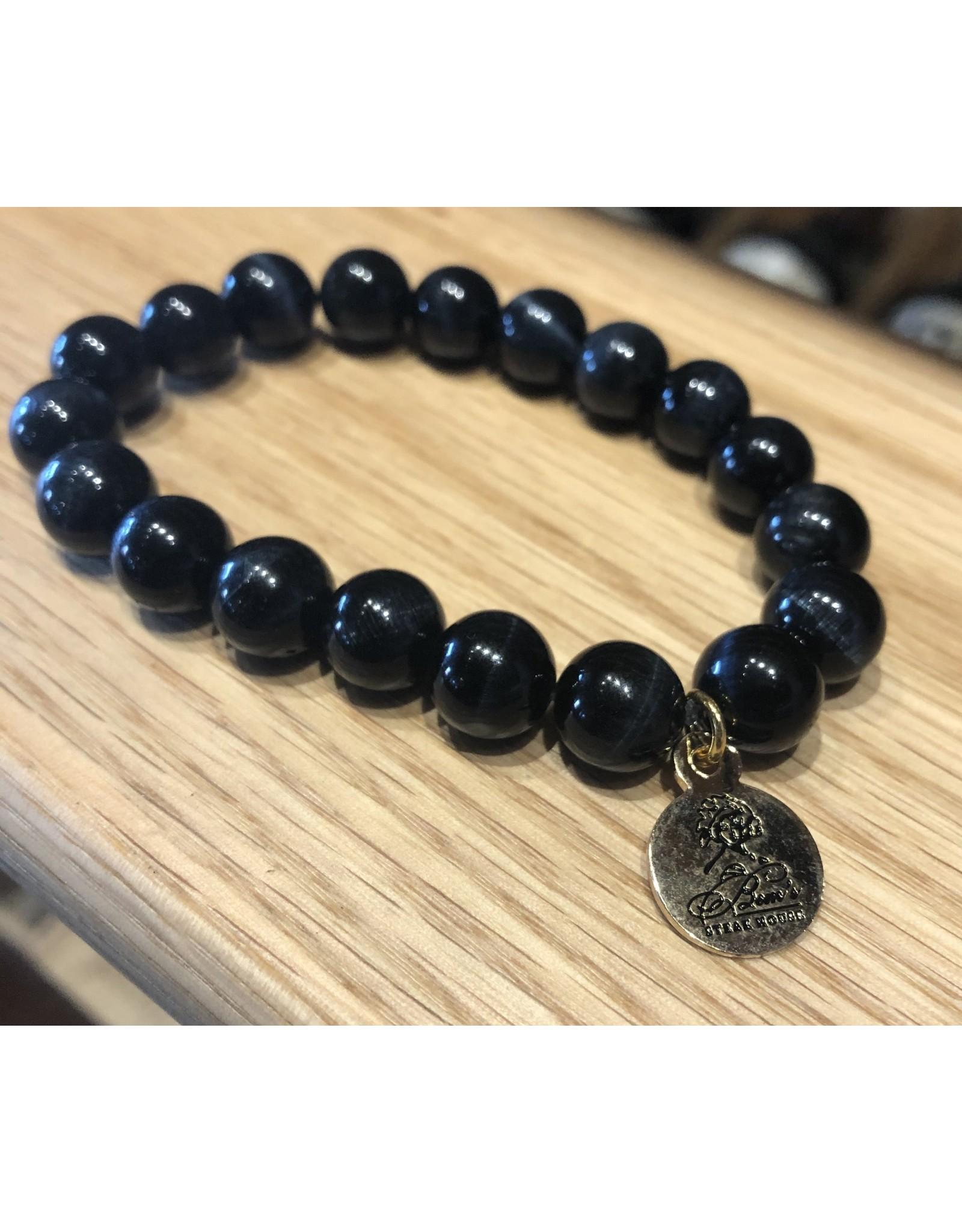 Bourbon and Bowties Black Pearl Bracelet