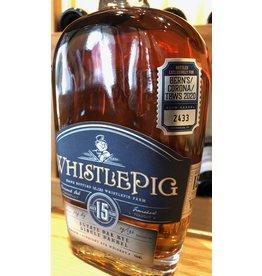 Bern's/Corona/TBWS Whistle Pig 15 Estate Oak Single Barrel