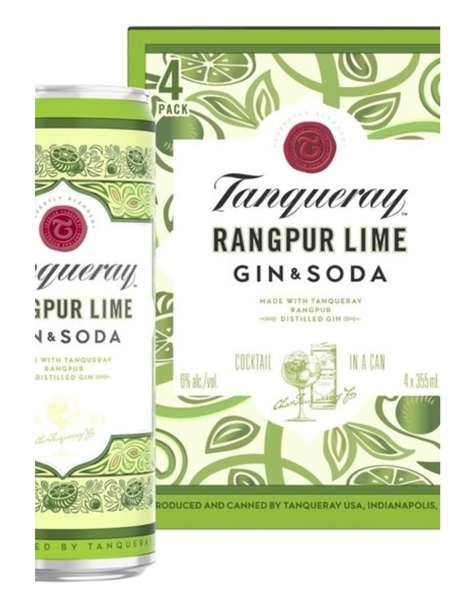 Tanqueray Gin & Soda Rangpur Lime 4 pack