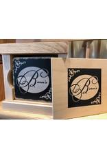 Bern's Logo Coasters 4 pack in Wood Box