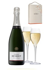 Henriot Blanc de Blanc Gift Set W/ Two Flutes