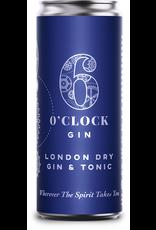 6 O'Clock London Dry Gin & Tonic 200ml can