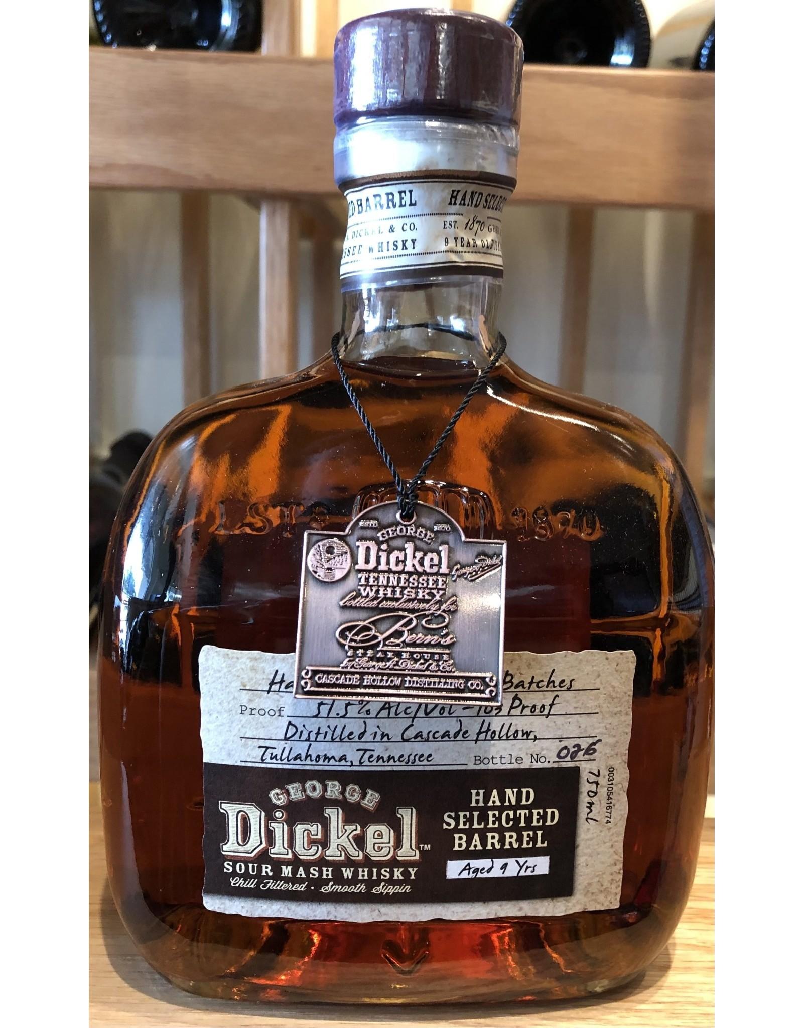 Bern's Select George Dickel Barrel 9 year Single Barrel Tennessee Whisky