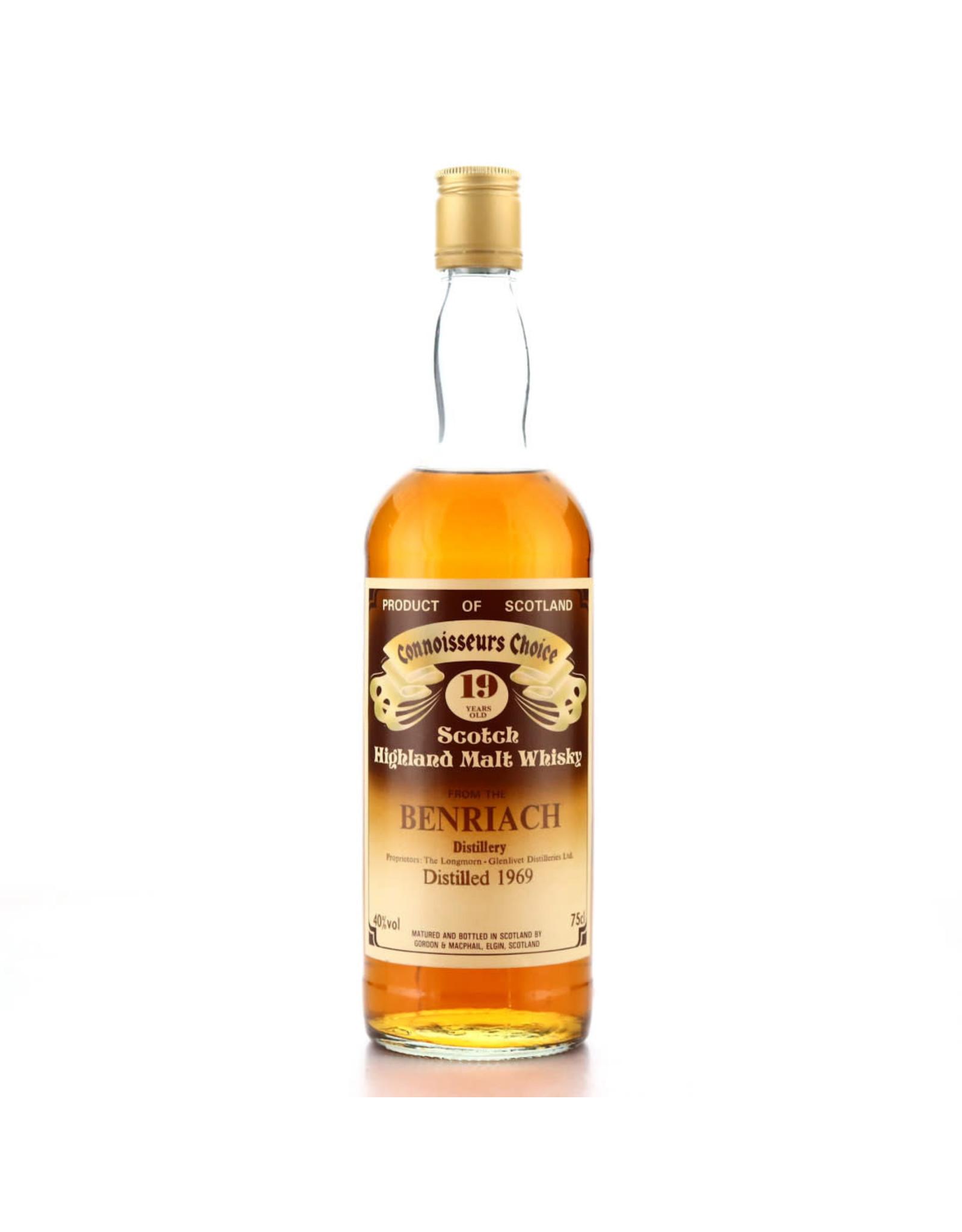 Gordon & Macphail Connoisseurs Choice Benriach 19 Distilled 1969