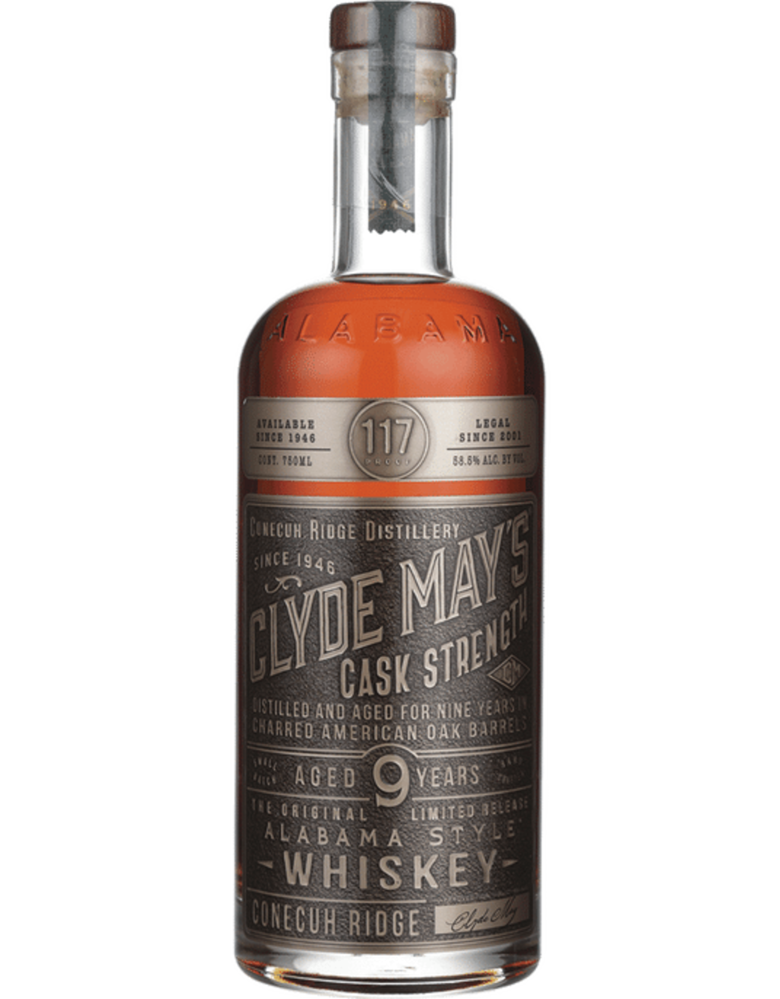 Clyde May's Cask Strength 9 year Alabama Whiskey