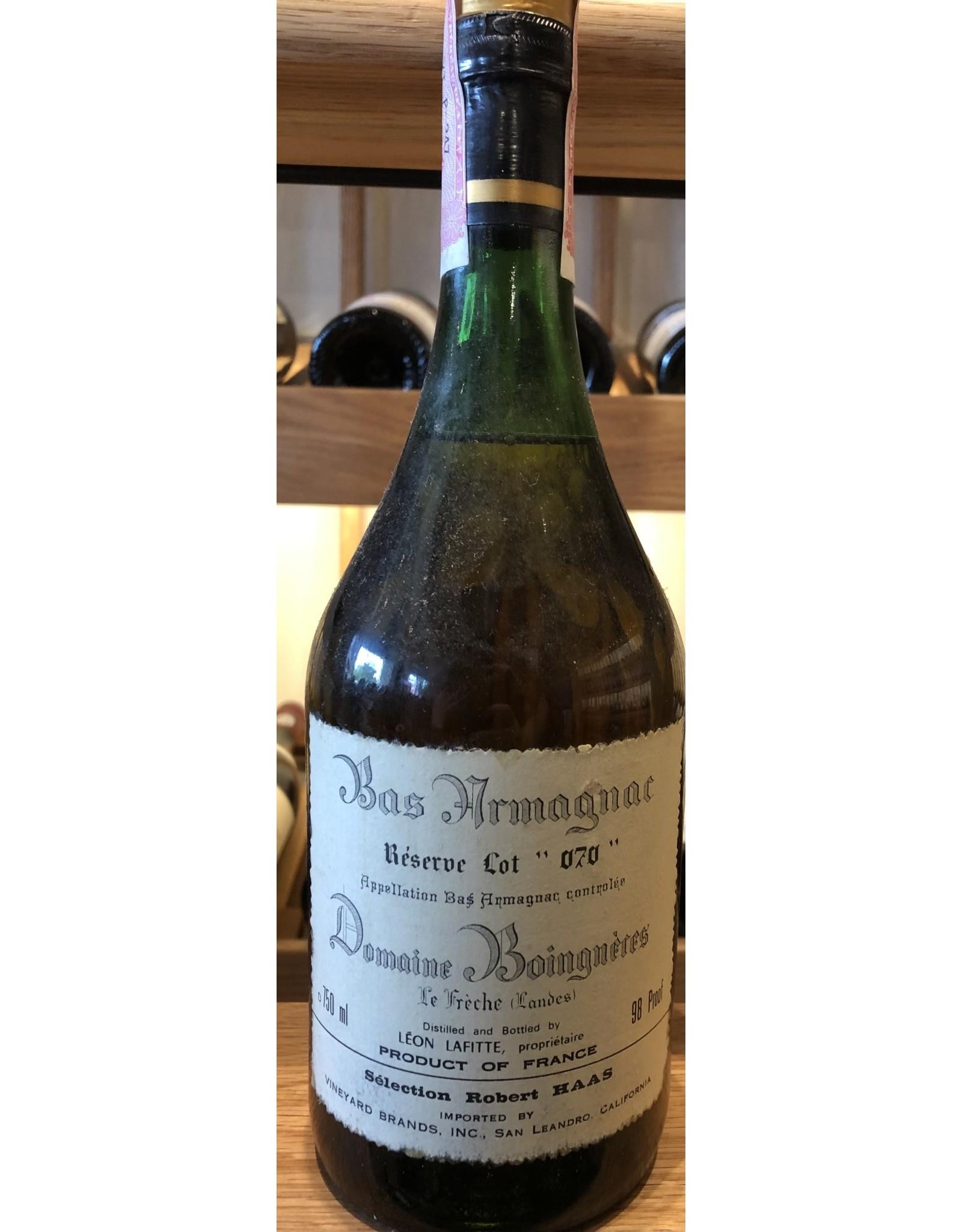 "Domaine Boingneres Bas Armagnac Reserve Lot ""070"" (Bottled 1980s)"