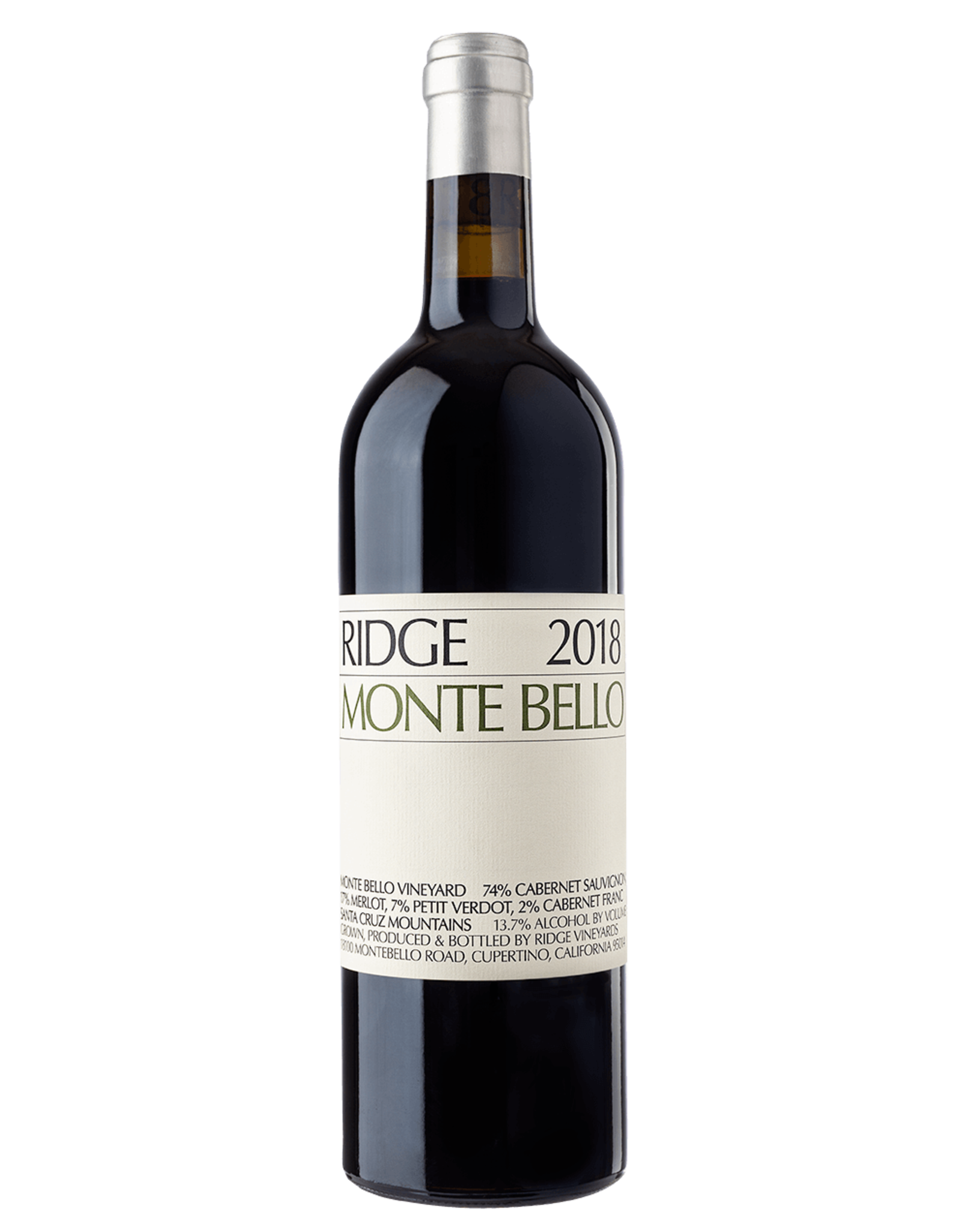 Ridge Monte Bello 2018