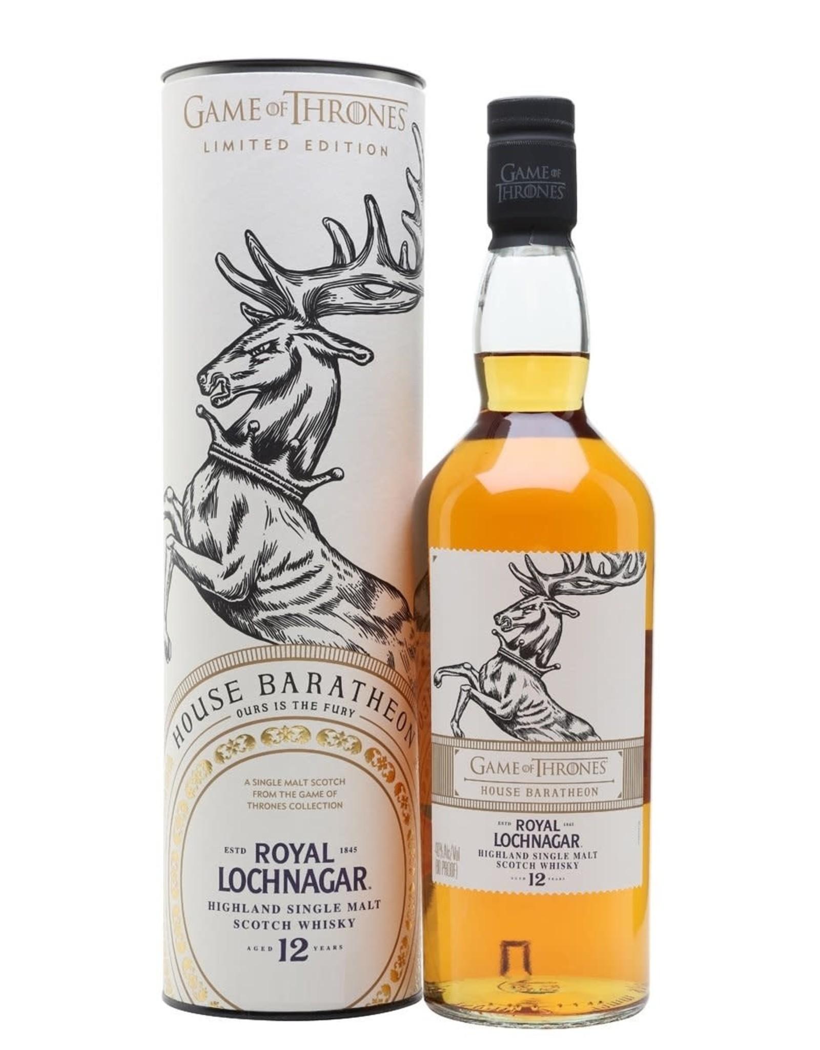 Game of Thrones Limited Edition House Baratheon Royal Lochnagar 12 year
