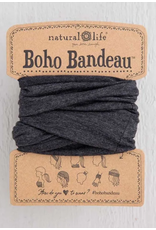 Natural LIfe Boho Bandeau, Heathered Charcoal