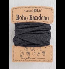 Natural LIfe Boho Bandeau, Heathered Charcoal