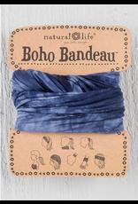 Natural LIfe Boho Bandeau, Navy & White Tie Dye