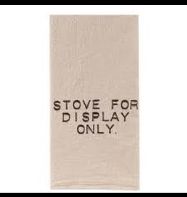 Flour Sack Towel, Display Stove