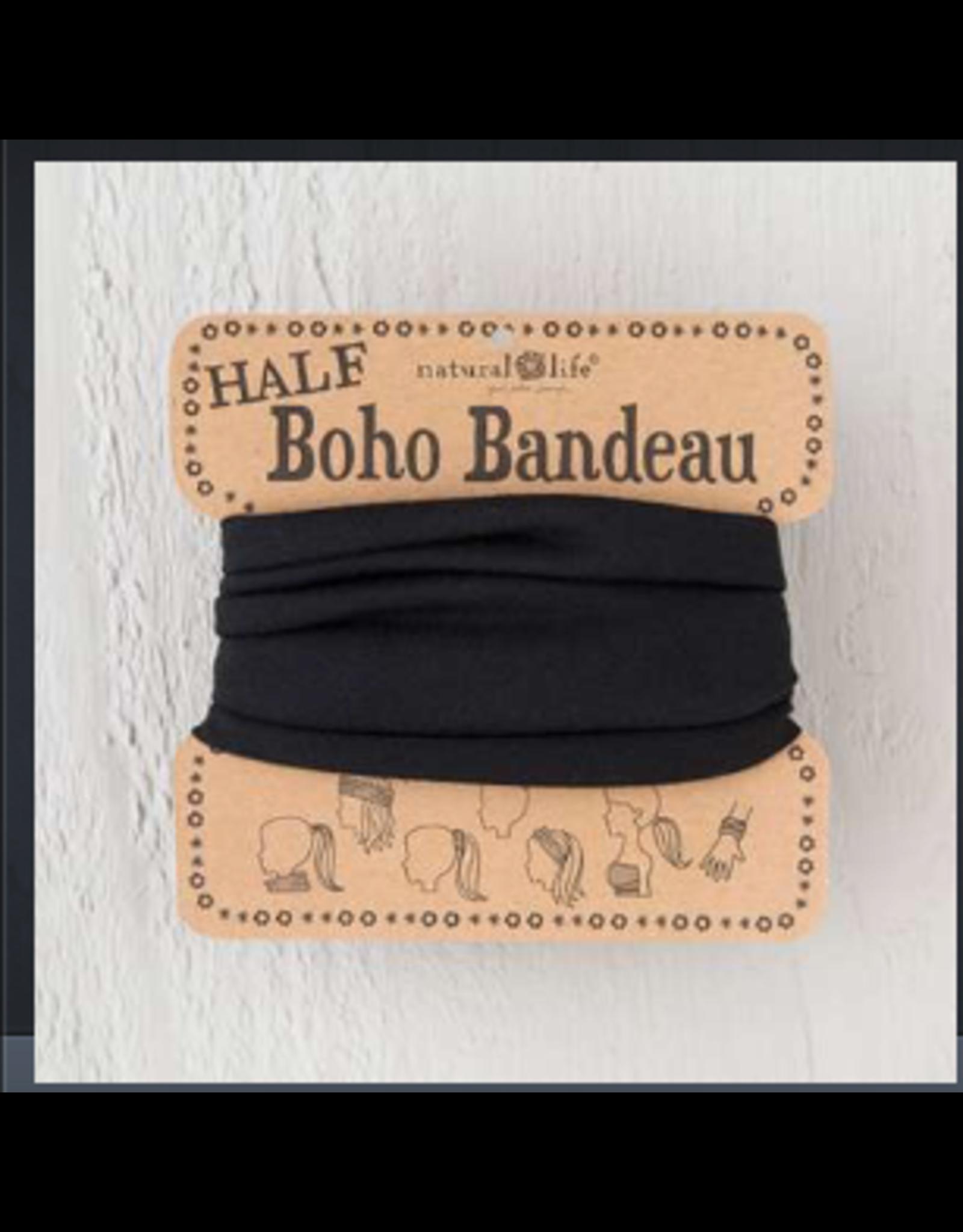 Natural LIfe Half Boho Bandeau, Black