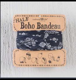 Natural LIfe Half Boho Bandeau, Black & Cream