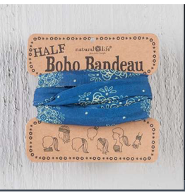 Natural LIfe Half Boho Bandeau, Indigo and Cream