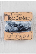Natural LIfe Half Boho Bandeau, Tie Dyed White/Black