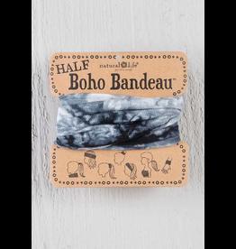 Natural LIfe Half Boho Bandeau, Tie Dyed White/Black