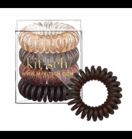 Kitsch Hair Coils 4 Pack, brunette