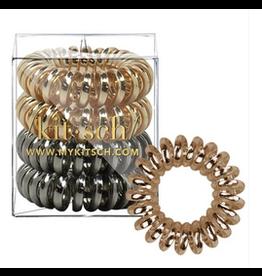 Kitsch Hair Coils 4 Pack, metallic