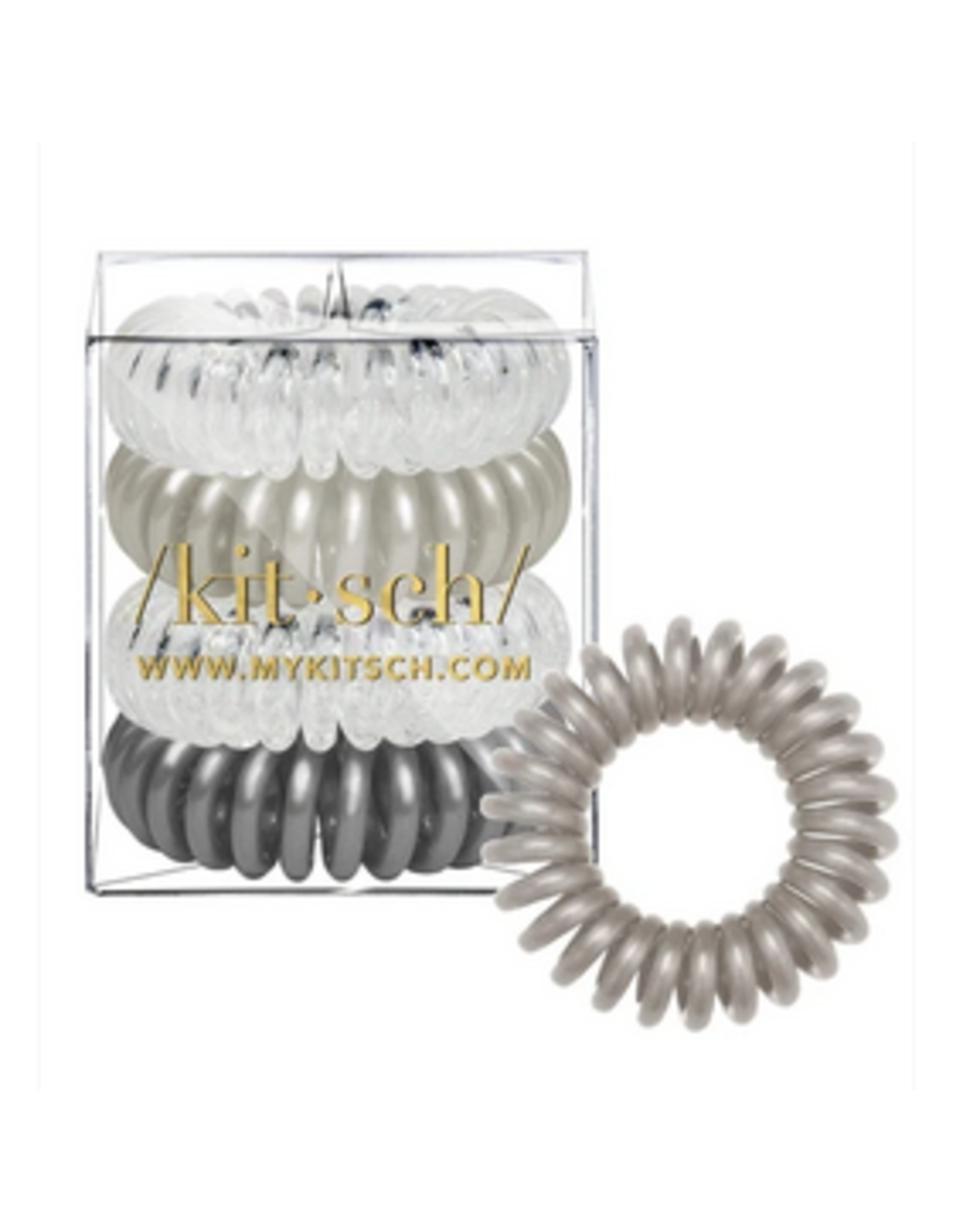 Kitsch Hair Coils 4 Pack, charcoal