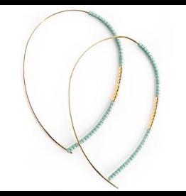 L&E Norah Earrings, matte turquoise