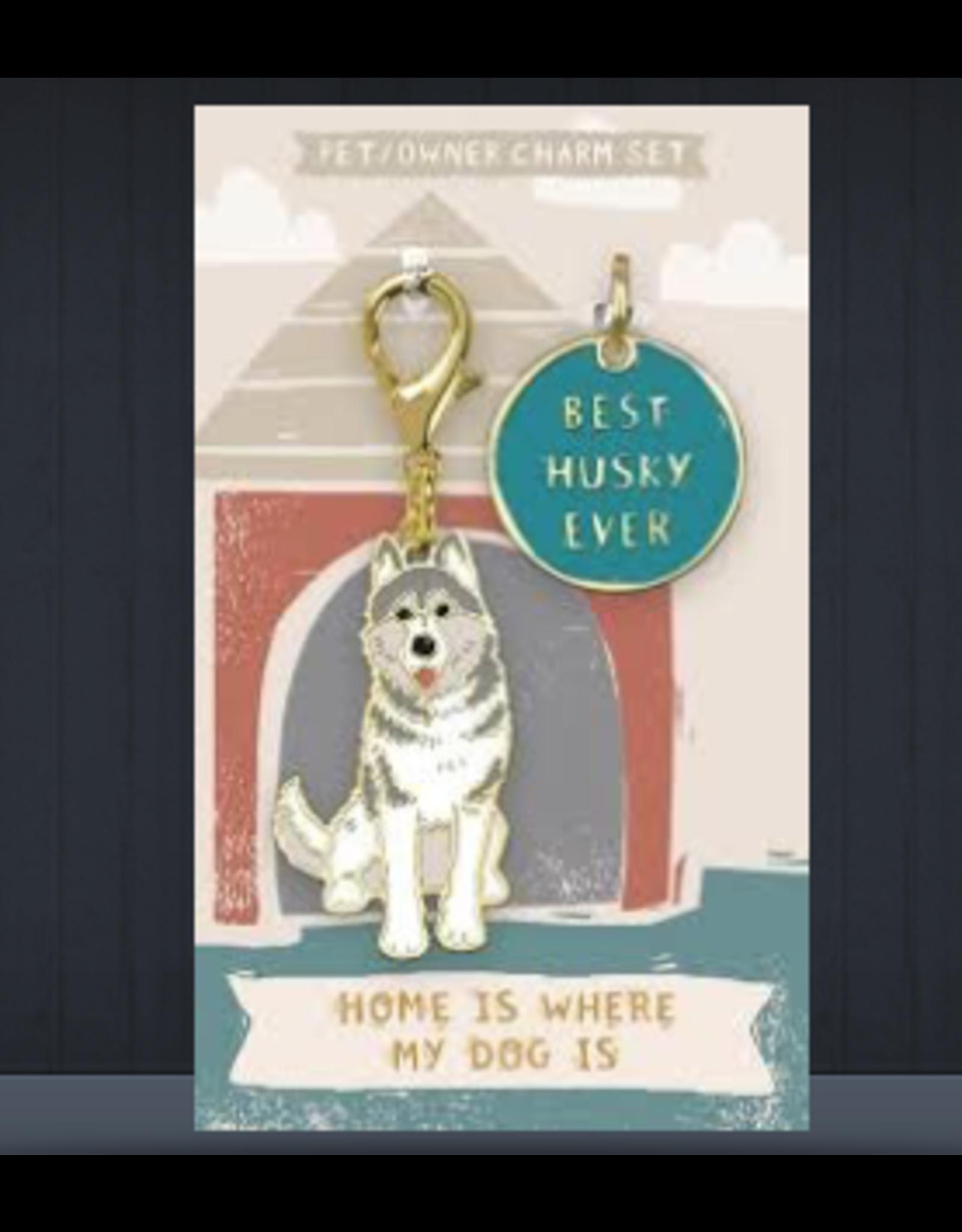 Pet/Owner Charm Set, Husky