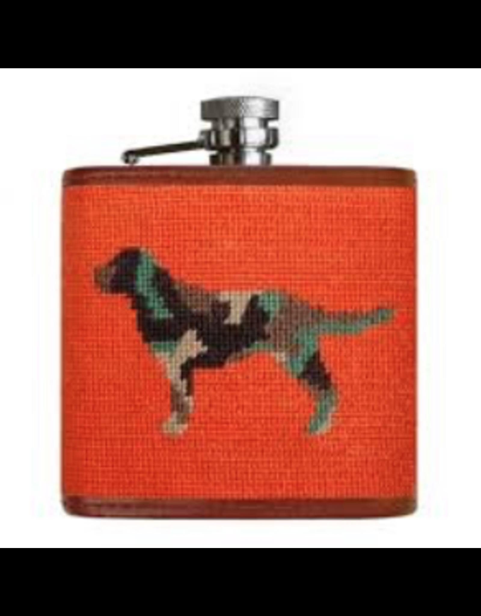 Smathers & Branson S&B Flask, Camo Retriever on orange