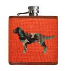 Smathers & Branson S&B Flask, Camo Retriever on orange
