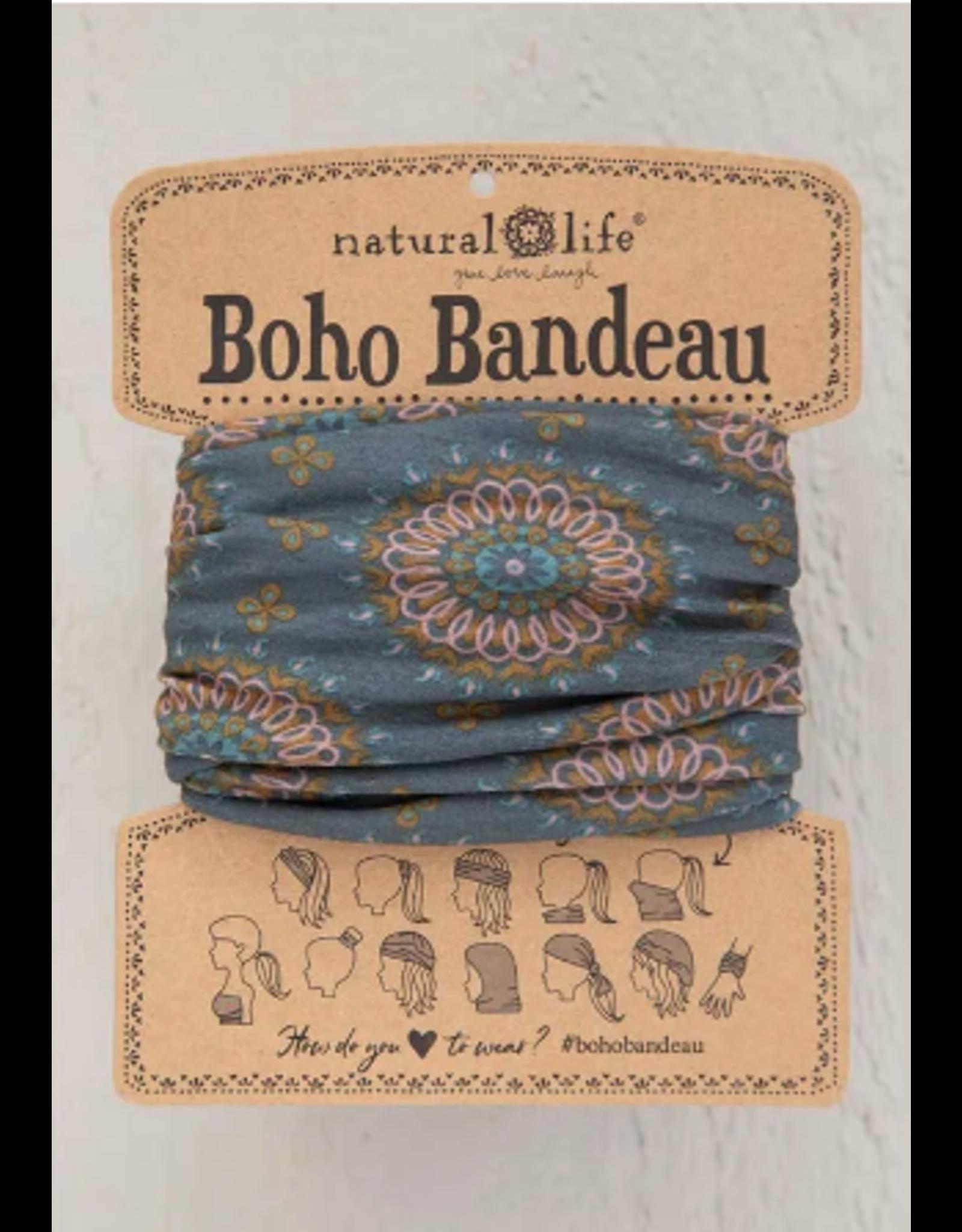 Natural LIfe Boho Bandeau, Sage Gold Medallion