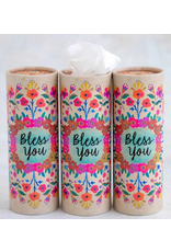 Natural LIfe Bless You Car Tissues, cream floral