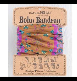 Natural LIfe Boho Bandeau, Gold Flower Mandala