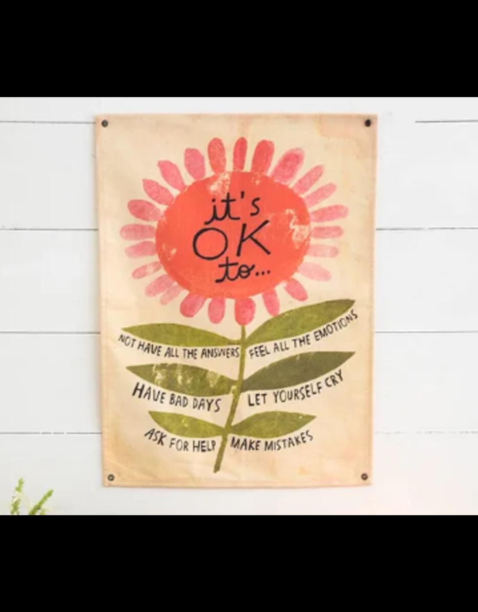Natural LIfe Mini Canvas Tapestry, It's Okay...