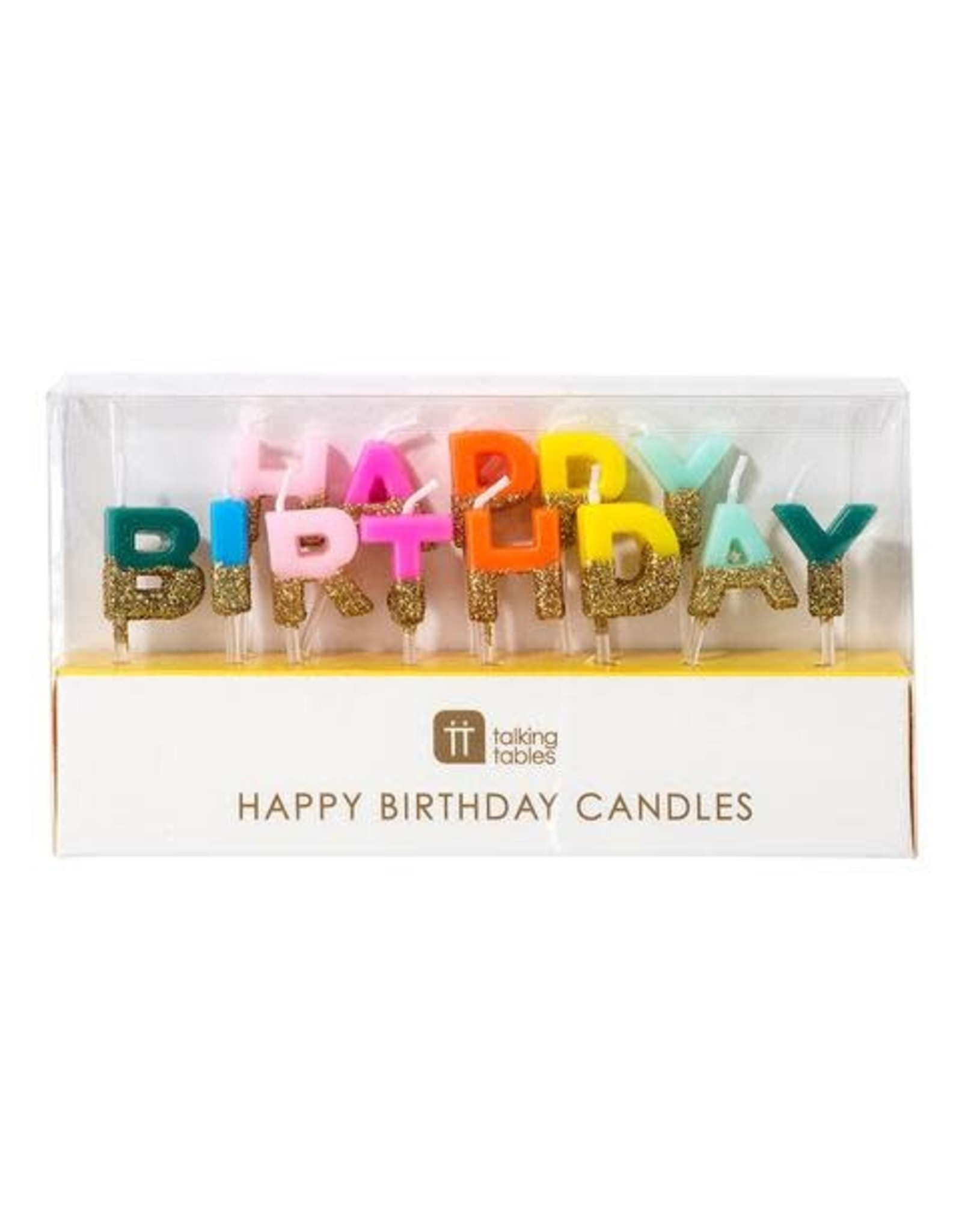 Happy Birthday Candles, glitter dipped