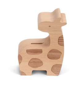 Wooden Giraffe Bank