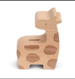 Wooden Giraffe Bank