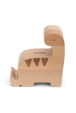 Wooden Dinosaur Bank