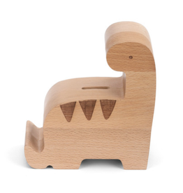 Wooden Dinosaur Bank