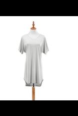 Bamboo Long Lounge Shirt, pebble L/XL