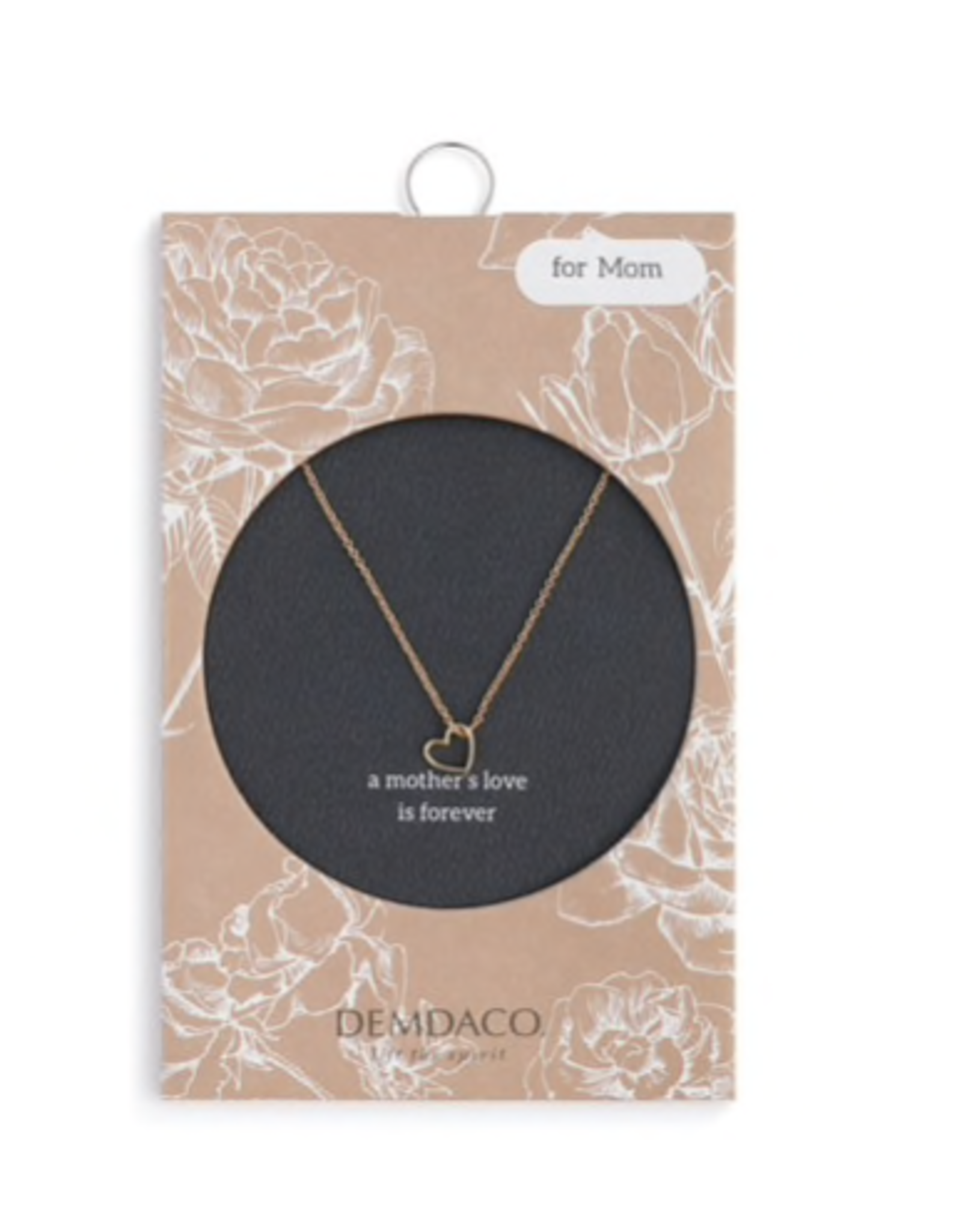 A mother's love is forever necklace with gold heart
