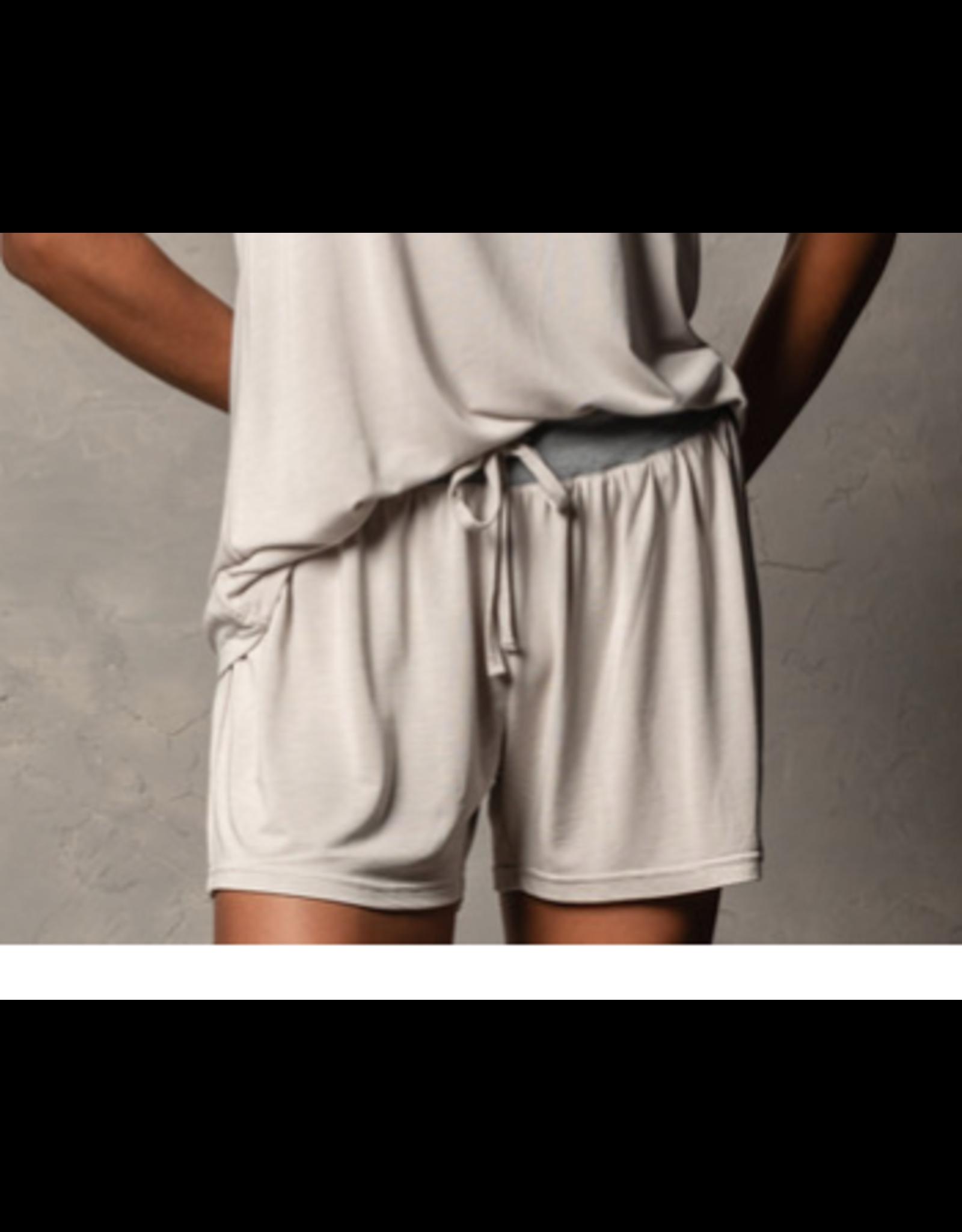 Bamboo Shorts, pebble M/L