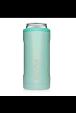 Hopsulator Slim Insulated Can-Cooler, glitter aqua