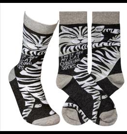 Socks-Cat Cuddling