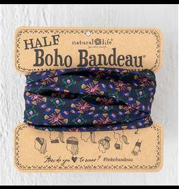 Natural LIfe Half Boho Bandeau, Black Multi
