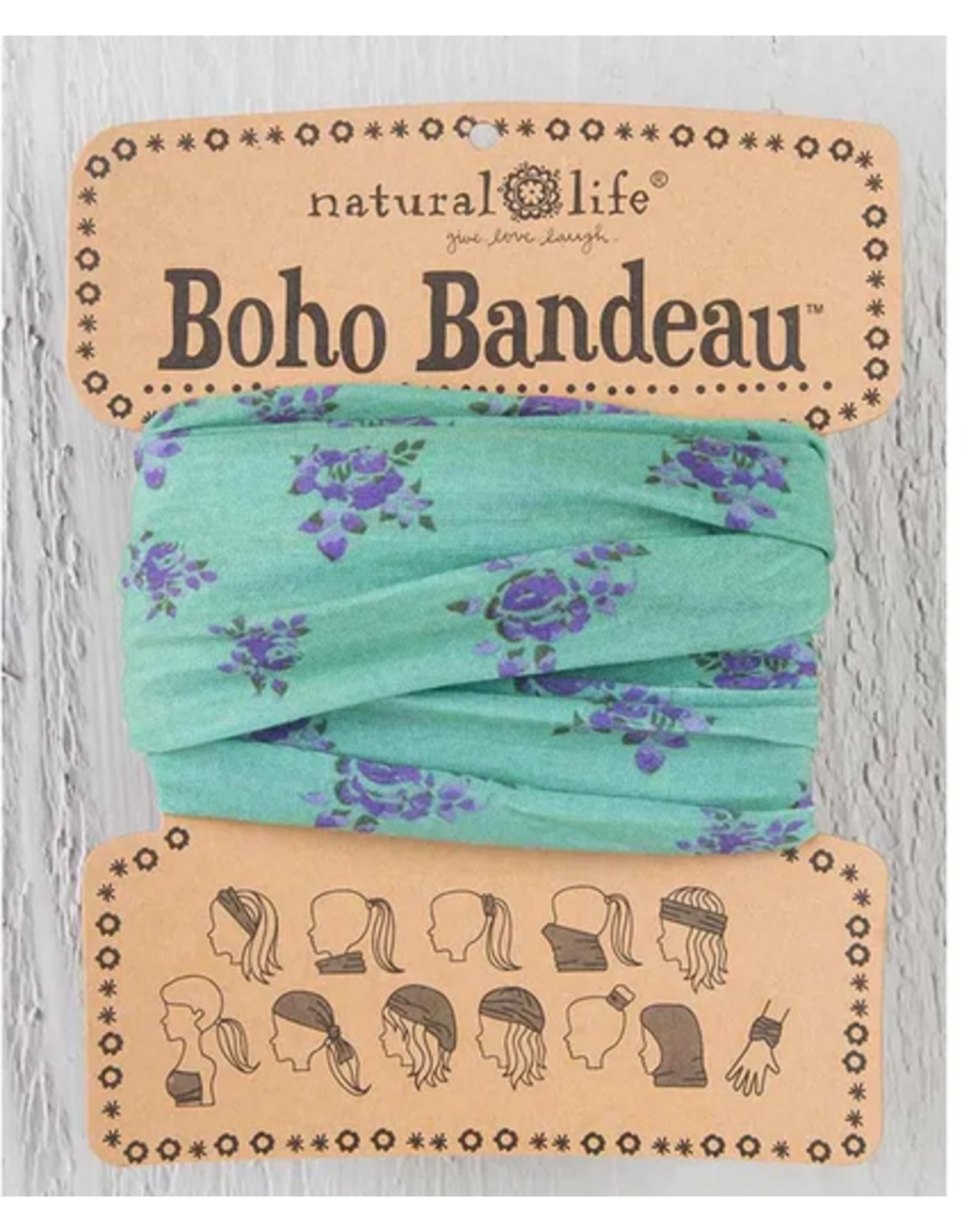 Natural LIfe Boho Bandeau, Sage Roses
