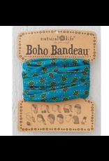 Natural LIfe Boho Bandeau, Turquoise Daisies