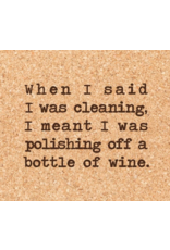 Cork Coaster, Polishing Wine