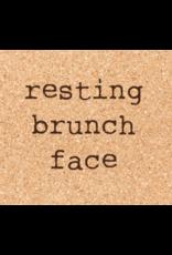 Cork Coaster, Resting Brunch Face