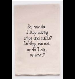Flour Sack Towel, Chips and Salsa