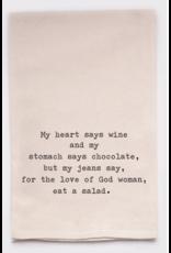 Flour Sack Towel, Eat a Salad